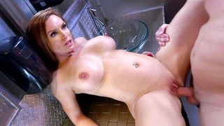 Big boobed Diamond Foxxx having steamy sex in the toilet Preview Image