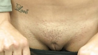 Blonde babe convinced to fuck for money Preview Image