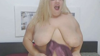 FAT FAT FAT Busty Blonde Chick Masturbates Preview Image