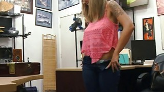 Slut with glasses screwed by pawn dude at the pawnshop Preview Image