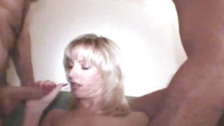 Blonde Wife Blowbang Sperm Funnel Bukkake Preview Image