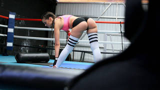 Boxing hottie with round ass fucks in the ring Preview Image