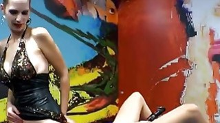 Euro slut licks other chick's pussy while getting fucked from behind Preview Image