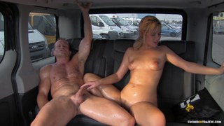 Nikki Dream covers the taxi with pussy juice and sweat Preview Image