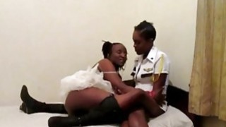 Kinky Ebony lesbians toy each other's assholes with sex toys Preview Image