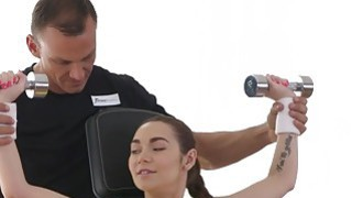 Tight teen bangs after fitness training Preview Image