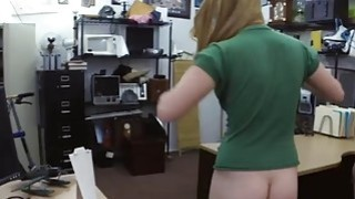 Sweet babe drilled by nasty pawn keeper in hs pawnshop Preview Image