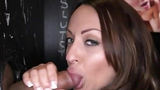 Pretty darling captivates with blow job pleasures Preview Image