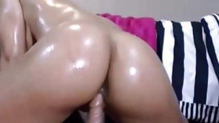 Big round oiled ass dildo riding Preview Image