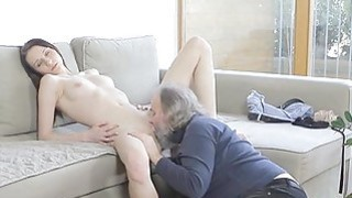 Young babe receives impaled on jock of an old dude Preview Image