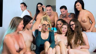 Girlfriends stumble into the mist of nudists and swingers Preview Image