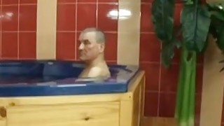Czech wife_banging her husband friend at the Jacuzzi Preview Image