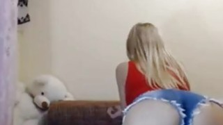 Cute blonde teen StripTease on webcam Preview Image