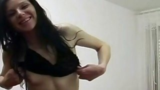 Skinny brunette amateur in boots is masturbating with her favorite sex toys Preview Image