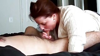 Wife Is Sucking His Hard Boner And Making Him Cum Preview Image
