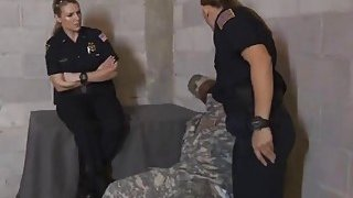 Huge breast blonde policewoman tamed aroused by small black cock army Preview Image