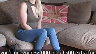 British fake agent bangs deep throat blonde Preview Image
