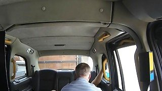 Amateur passenger pounded by nasty driver in the cab Preview Image