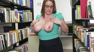 Horny chick takes big cock at the local library Preview Image