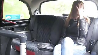 Tight babe drilled by nasty pawn keeper in the backseat Preview Image