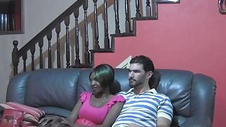 African Babe Takes White_Cock In Doggy Style Preview Image
