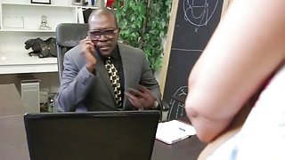 Busty Milf Gets Filled By Two Black Rods In Office Preview Image