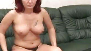 Horny handicap man licks lusty big tit_redhead MILF's pussy and gets nice blowjob Preview Image