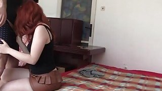 Young Redhead Barbara Babeurre_Sucks Dick And Tries Anal Sex In Bedroom Preview Image