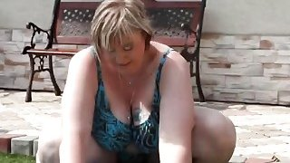 Fat wife Diana sucks dick and gets pussy licked by the pool Preview Image