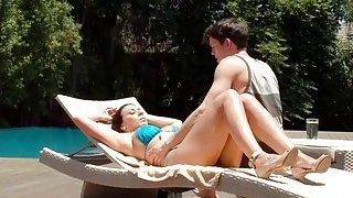 Busty MILF gets fucked by her horny stepson outdoors Preview Image