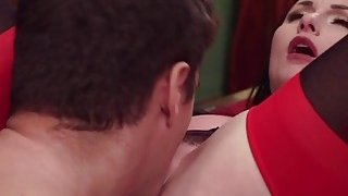 Jealous wife submits secretary with husband Preview Image