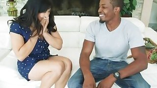 Slutty Asian chick Mia Li gets her tight butt banged hard by a black stud Preview Image