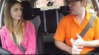 Brunette Stella Cox seduced driving instructor Preview Image