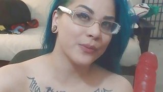 Horny and Hungry Blue Hair Slut Preview Image
