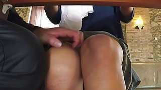 Busty Arab chick spreads legs and gets pussy penetrated balls deep Preview Image