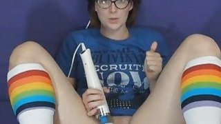 Nerdy Babe Masturbates Till Her Pussy Gets Wet Preview Image