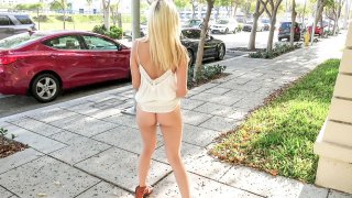 Banging a college chick in secret outside Preview Image