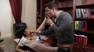 Horny schoolgirl would do anything for better grades Preview Image