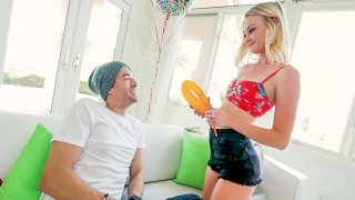 Cute girl gets her holes stretched Preview Image