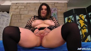 Big Tit Fat Girl Nova Jade Plays with Her Pussy Before Sucking Cock and Fucking Preview Image