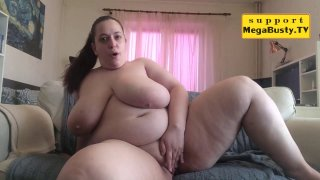BBW chick teases with her chubby body and fingers herself Preview Image