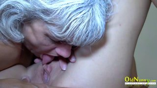 OldNannY Horny Granny Licking Hot Teen Lesbian Preview Image