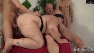 Insatiable BBW Becki Butterfly Is Gangbanged by Five_Horny Bastards Preview Image