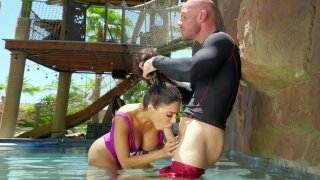 Lela Star is sucking Johnny's big cock in the pool Preview Image