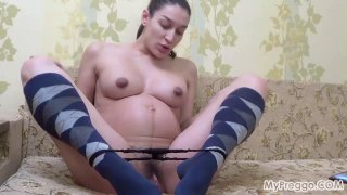 Preggo Janetta Takes Selfies and_Fingers Her Pussy Preview Image