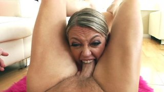 Dee Williams orally serves the hard cock and balls in POV Preview Image