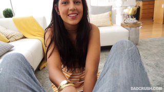 Cute brunette gives head and gets pussy pounded in POV Preview Image
