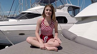 Slender teen sucks cock on a boat Preview Image