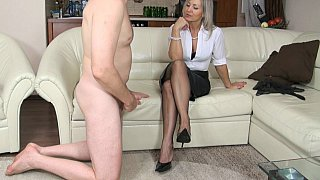 Femdom handjob from a GILF Preview Image