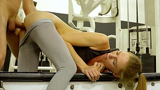 Pumping pussy at the gym Preview Image